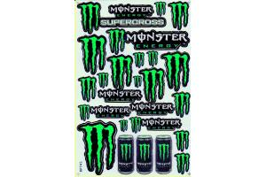 Monster Energy Stickerbogen grün 4