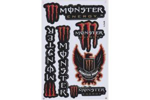 Monster Energy Stickerbogen Monster-Army rot