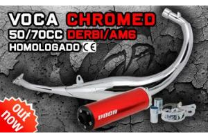 Voca Racing Chrome 50/70 Sportauspuffanlage Derbi